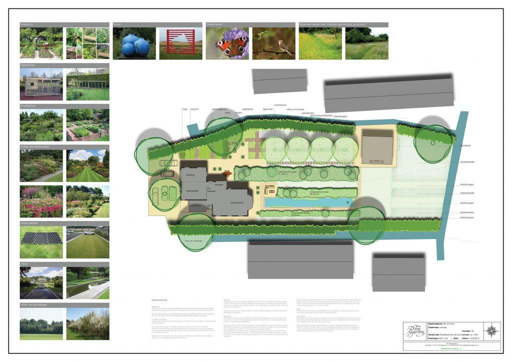Presentatieposter tuinontwerp Ouderkerk aan den IJssel 1