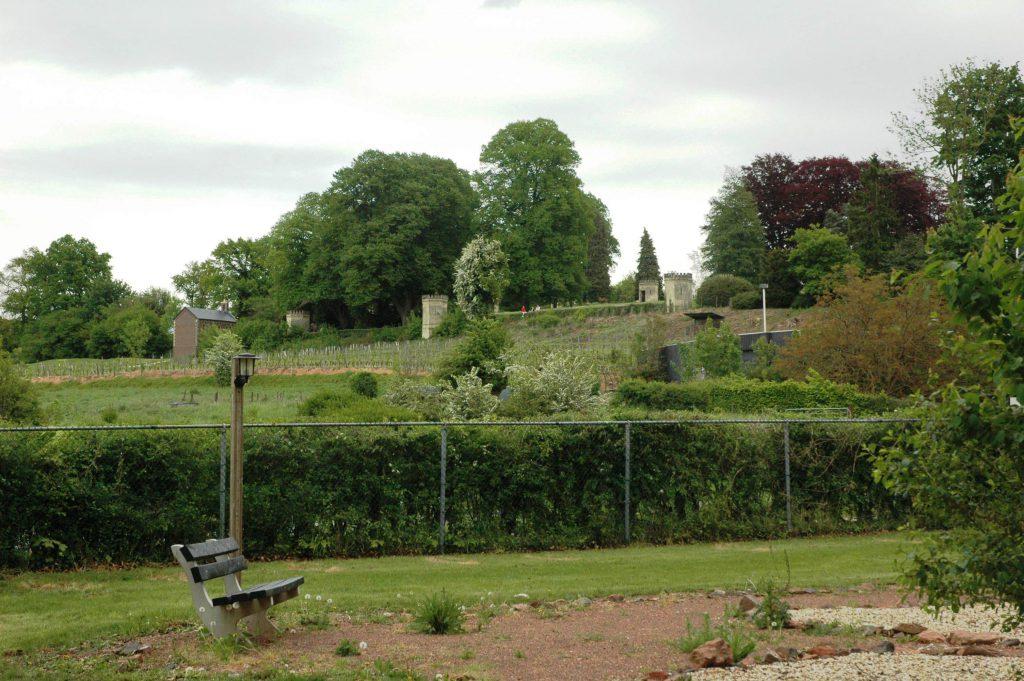 Uitzicht grindtuin The Abbey